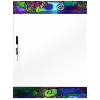 Alle Kleuren met Wervelingen en Lijnen Whiteboards
