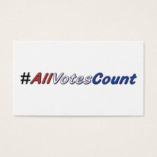 Alle Visitekaartjes van de Telling van Stemmen