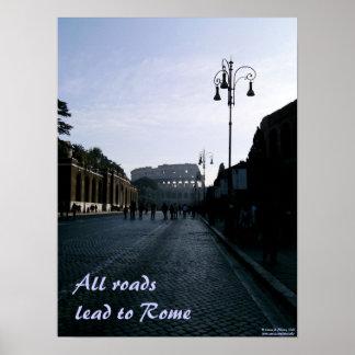 Alle Wegen leiden tot Rome Poster