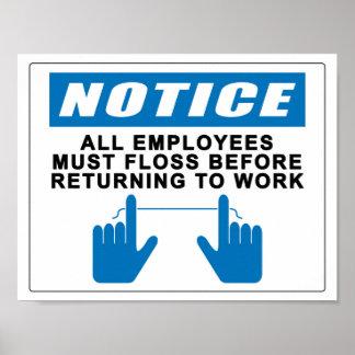 Alle Werknemers moeten Zijde Poster