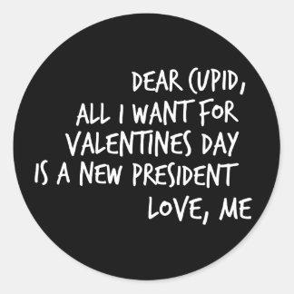 Alle wil ik want de Valentijnsdag een Nieuw Ronde Sticker