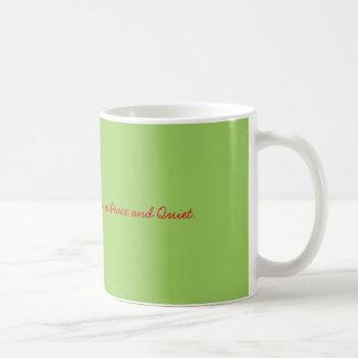 Alle wil ik want Kerstmis Vrede en Stil is Koffiemok