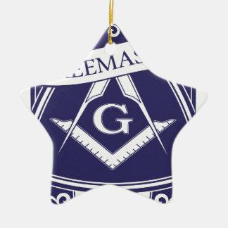 Alle-Ziet van Illuninati van de vrijmetselaar Oog Keramisch Ster Ornament