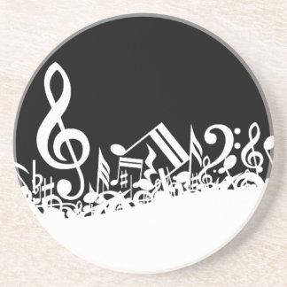 Allegaartje van Muzikale Symbolen Zandsteen Onderzetter