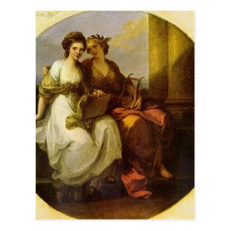 Allegorie van poëzie en muziek door Engelwortel Briefkaart