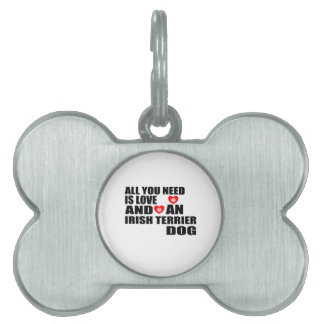 Allen u vergen Design van de Honden van TERRIER Huisdieren Naamplaatje