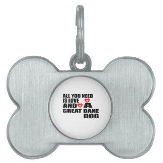Allen u vergen het Design van de Honden van GREAT Huisdieren Naamplaatje