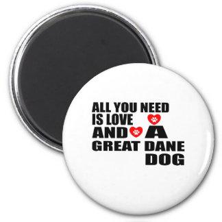 Allen u vergen het Design van de Honden van GREAT Magneet