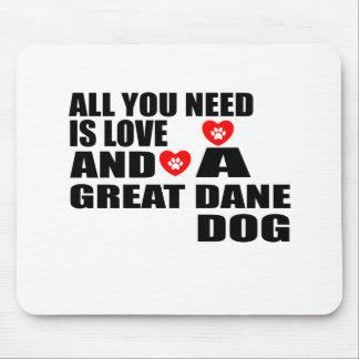 Allen u vergen het Design van de Honden van GREAT Muismatten