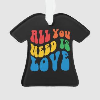 Allen u wenst is de T-shirt van de Liefde Ornament
