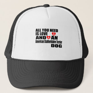 ALLEN U WENST IS LIEFDE Amerikaanse Staffordshire Trucker Pet