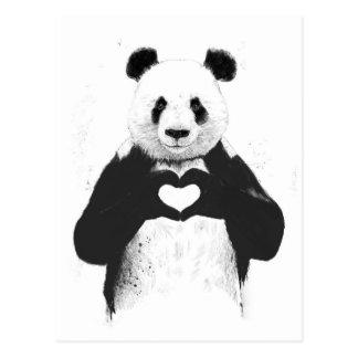 Allen u wenst is liefde briefkaart