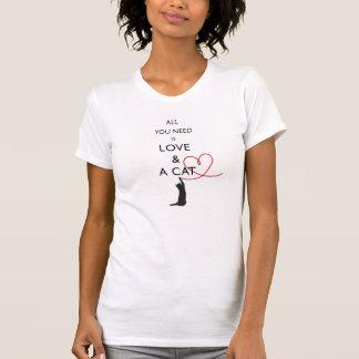 Allen u wenst is liefde & een kat t shirt