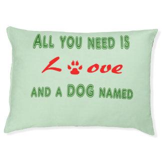 Allen u wenst is liefde en een hond genoemd… hondenbedden