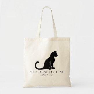 Allen u wenst is Liefde en een Kat! Budget Draagtas