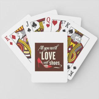Allen u wenst is Liefde en Schoenen Speelkaarten