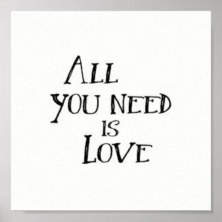 Allen u wenst is Liefde Poster