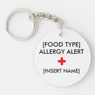 Allergie Waakzame Keychain Sleutelhanger