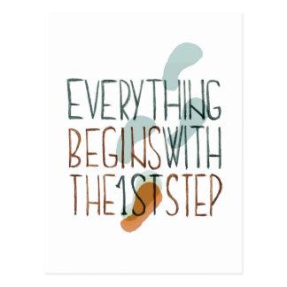 Alles begint met de Eerste Stap Briefkaart