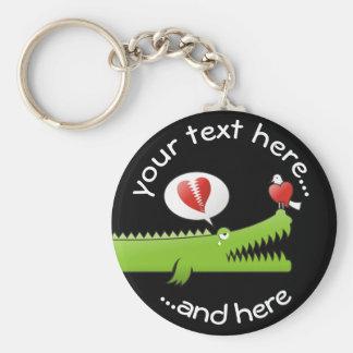 Alligator in Liefde Sleutelhanger