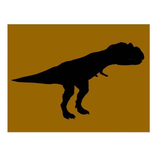 Allosaurus Dino Dinosaur Silhouette Wens Kaart