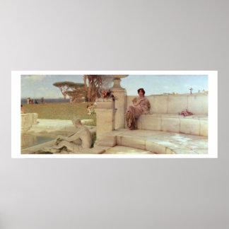 Alma-Tadema | de Stem van de Lente van, 1908 Poster