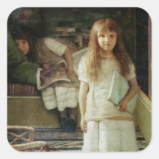 Alma-Tadema | dit is onze Hoek, 1873 Vierkante Sticker