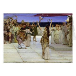 Alma-Tadema | een Toewijding aan Bacchus Briefkaarten 0