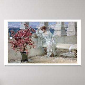 Alma-Tadema | Haar ogen is met haar thoughts� Poster