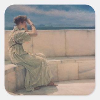 Alma-Tadema | Verwachtingen, 1885 Vierkante Sticker