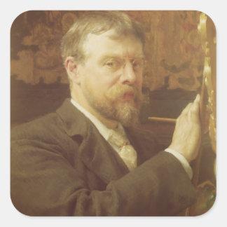 Alma-Tadema | ZelfPortret, 1897 Vierkante Sticker