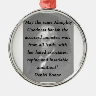 Almachtige Goedheid - Daniel Boone Zilverkleurig Rond Ornament