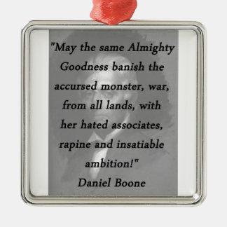 Almachtige Goedheid - Daniel Boone Zilverkleurig Vierkant Ornament