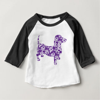 Aloha-Doxie-paars Baby T Shirts