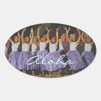 Aloha Hula Ovale Sticker