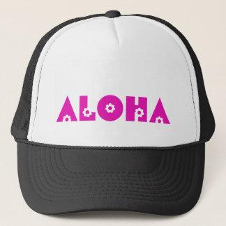 Aloha in Roze Bloemen Trucker Pet