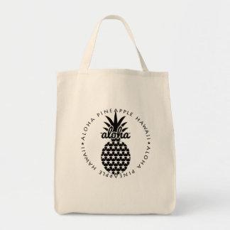 aloha pineapple hawaii shoppingbag draagtas