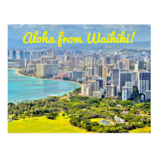 Aloha van Waikiki Briefkaart