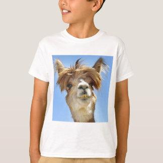 Alpaca met Gek Haar T Shirt