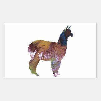 Alpaca Rechthoekige Sticker