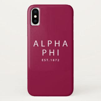 Alpha- Phi   Est. 1872 iPhone X Hoesje