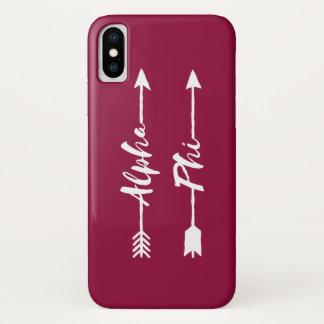 Alpha- Phi   Pijlen iPhone X Hoesje