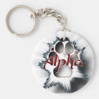 Alpha- Poot Sleutelhanger