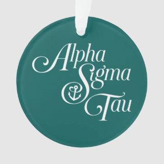 Alpha- Tau van de Sigma Verticaal Teken Ornament