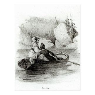 Alphonse de Lamartine en Elvire Briefkaart