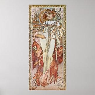 Alphonse Mucha. Automne/de Herfst, c.1903 Poster