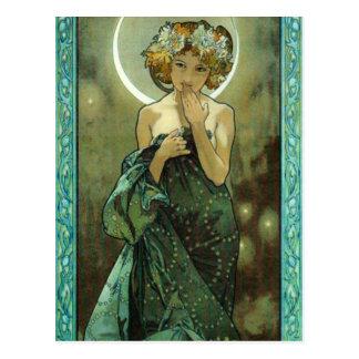 Alphonse Mucha Clair De Lune Postcard Briefkaart