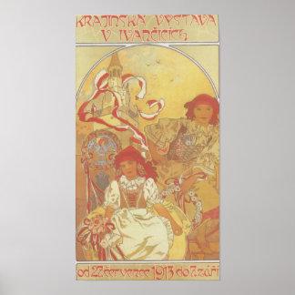Alphonse Mucha - de Druk van de Tentoonstelling 19 Poster