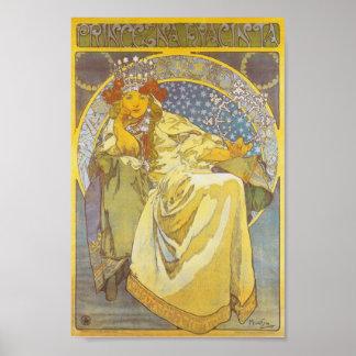 Alphonse Mucha - de Druk van Hyacint van de Prinse Poster
