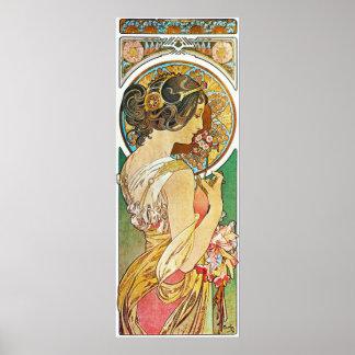 Alphonse Mucha. La Primevere/Primula's, 1899 Poster